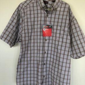 Men's Plaid Short Sleeved Shirt